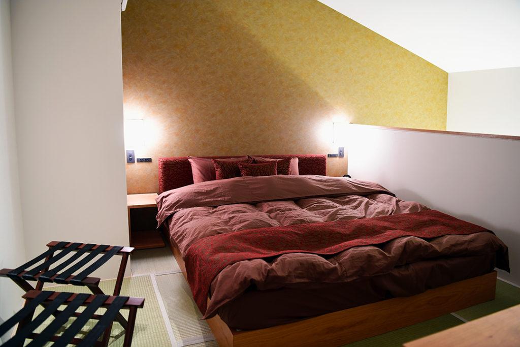京都の宿ベッドルーム