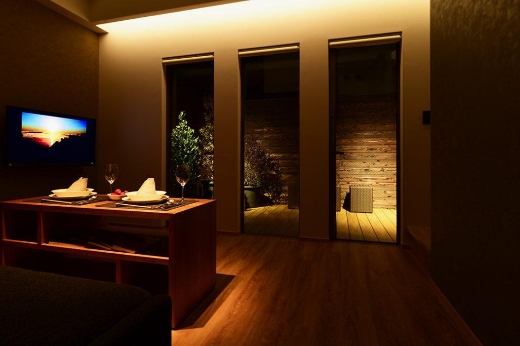 京都の宿リビング